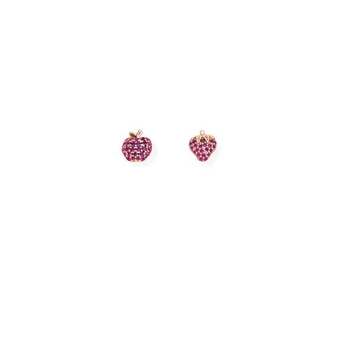 Earrings Apple and Fragola Zirconate