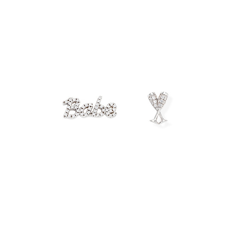 Earrings Babe and Flute Zirconate