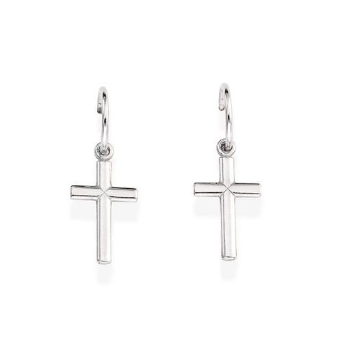 Earrings Bell Cross Big