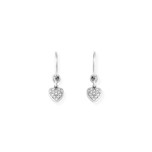 Earrings Bell Heart Zirconia