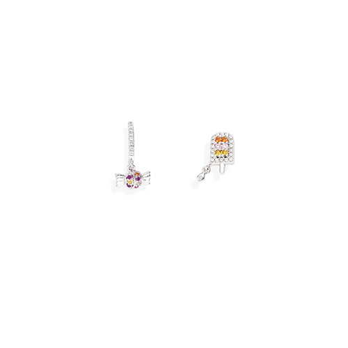 Earrings Candy and Ice Cream Zirconate