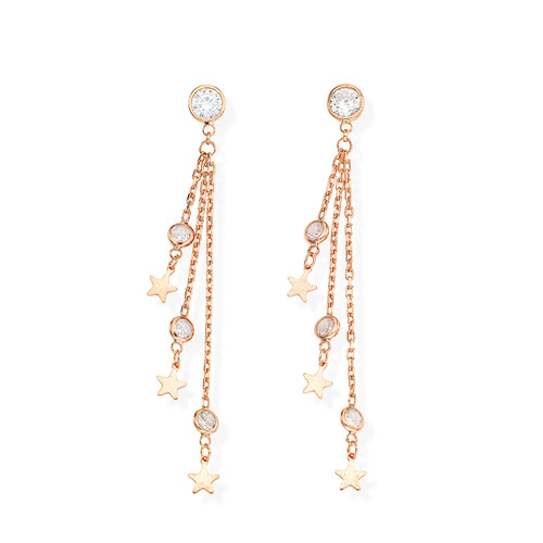 Earrings Chandelier Star
