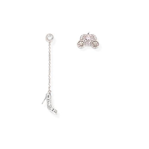 Earrings Cinderella Zirconate