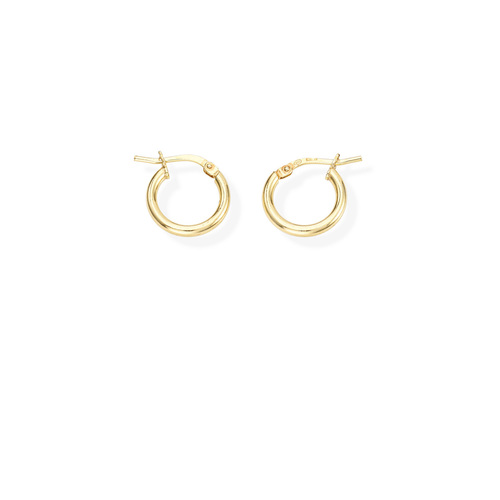 Earrings Circle 1 cm Golden