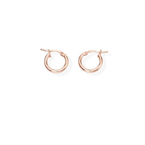 Earrings Circle 1 cm Rosè
