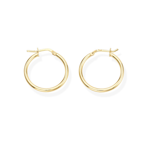 Earrings Circle 2 cm Golden