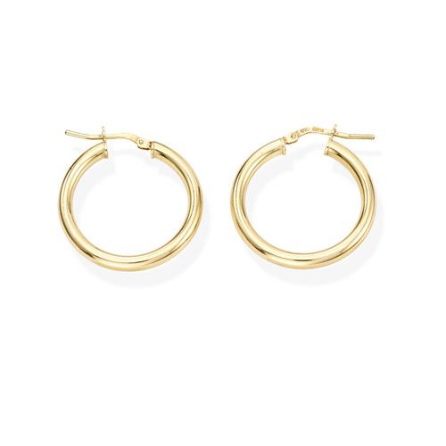 Earrings Circle 2 cm Golden