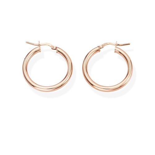 Earrings Circle 2 cm Rosè