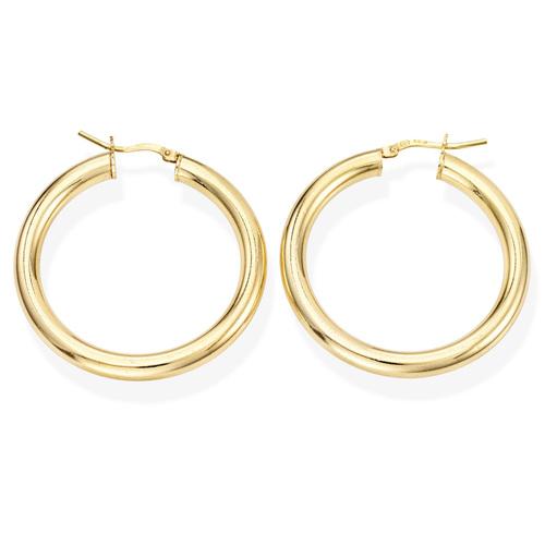 Earrings Circle 3 cm Golden