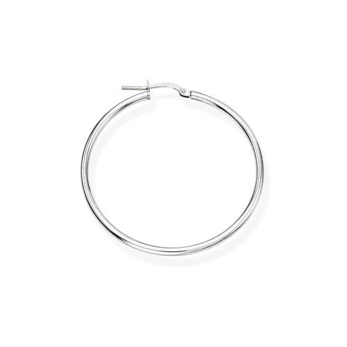 Earrings Circle 4 cm Rhodium