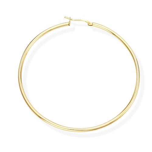 Earrings Circle 6 cm Golden