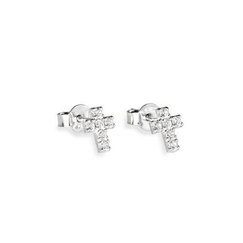 Earrings Cross Zircons