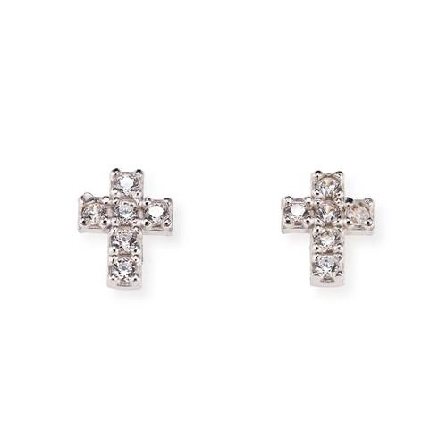 Earrings Cross Zircons