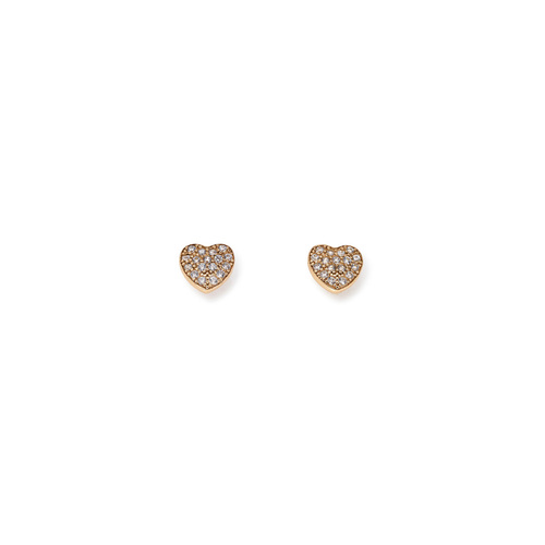 Earrings Hearth Cubic Zirconia