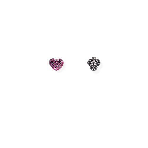 Earrings Hearts and Clubs Zirconate