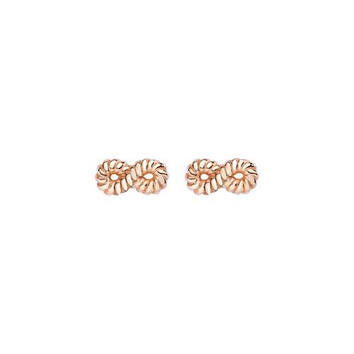 Earrings Infinity Knurled Rosè