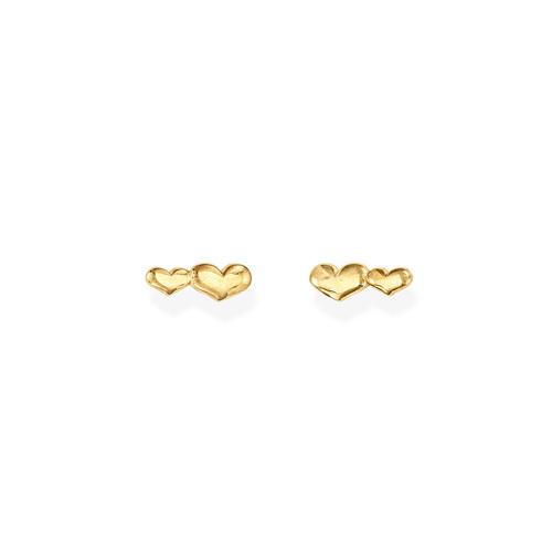 Earrings Little Hearts Golden