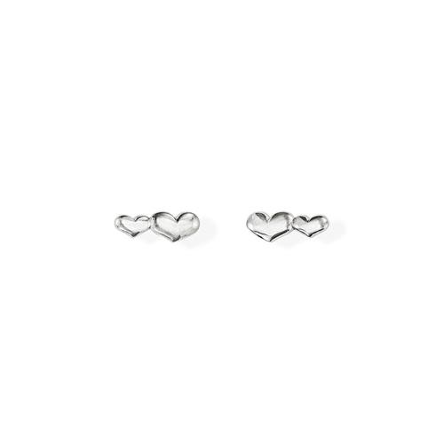 Earrings Little Hearts Rhodium