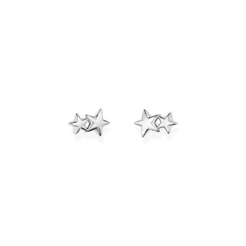 Earrings Little Stars Rhodium