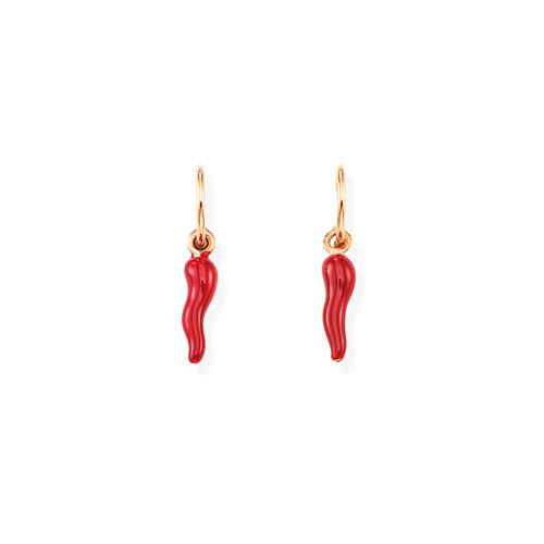 Earrings Lucky Horn Rosso