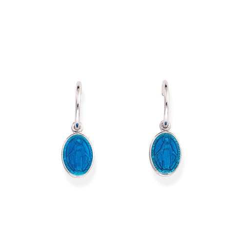 Earrings Madonna Enamelled Blue