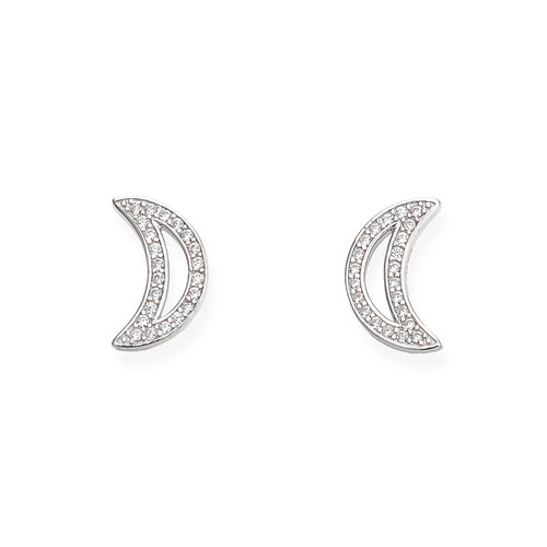 Earrings Moon Zircons