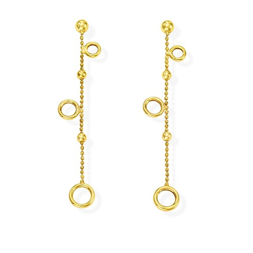 Earrings Orbits Golden