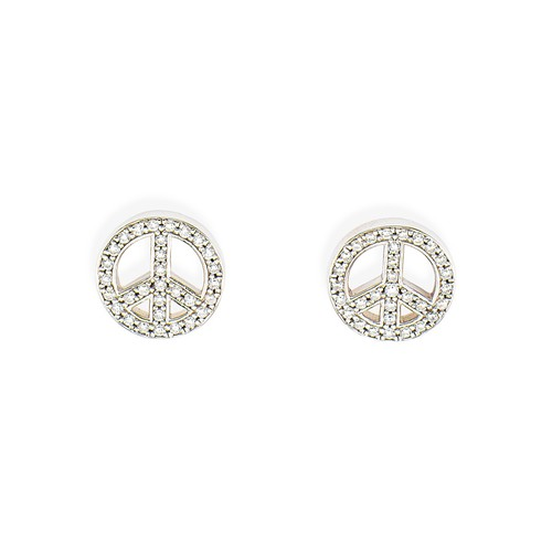 Earrings Peace Zircons