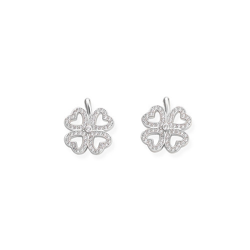 Earrings Quatrefoil Zircons