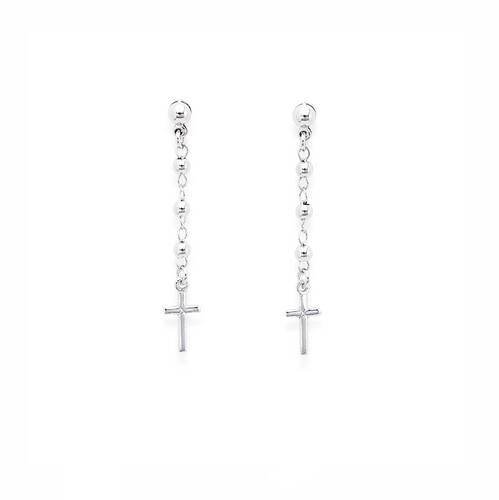 Earrings Rosary Cross