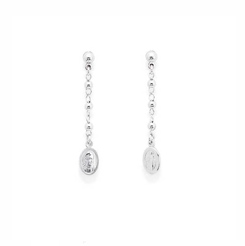 Earrings Rosary with Miracolous AG925