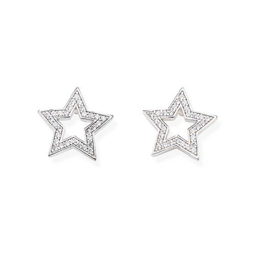 Earrings Star Large Zircons
