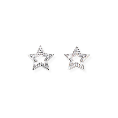 Earrings Star Zircons