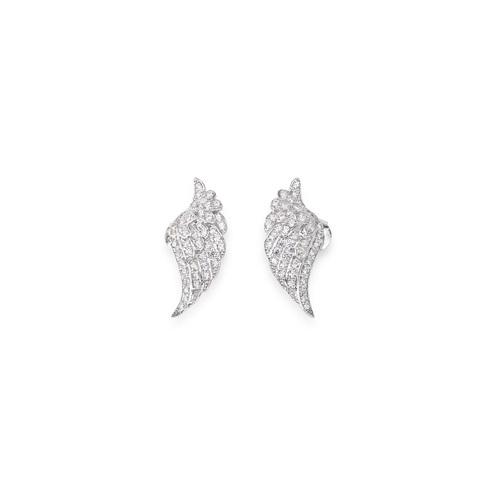 Earrings Wings Cubic Zirconia