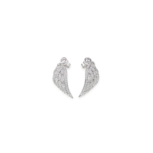Earrings Wings Cubic Zirconia