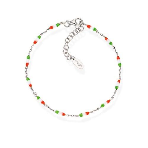 Enameled Italy Flag Bracelet