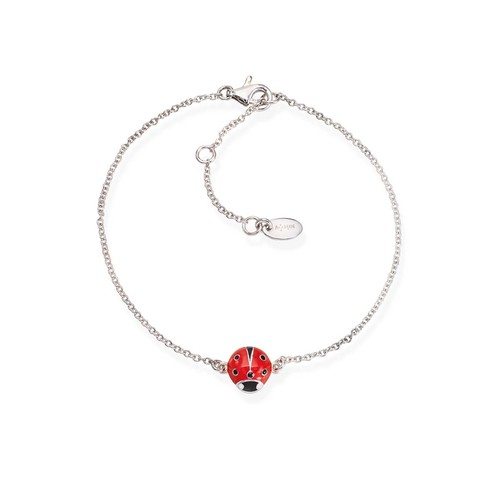 Enameled Ladybug Bracelet