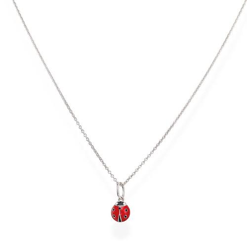Enameled Ladybug Necklace