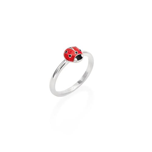 Enameled Ladybug Ring