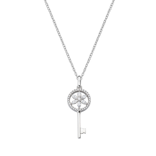 Flower of Life Key Necklace