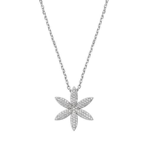 Flower of Life Necklace Black Zircons