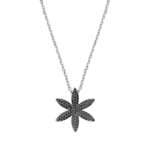 Flower of Life Necklace White Zircons