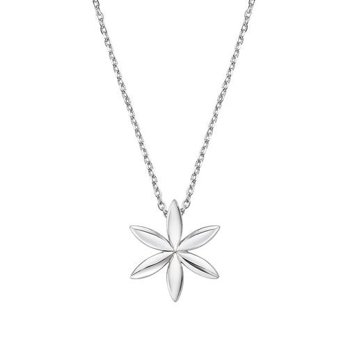 Flower of Life Rhodium Necklace