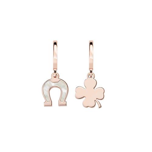 Four-Leaf Clover and Horseshoe Rosé Earrings