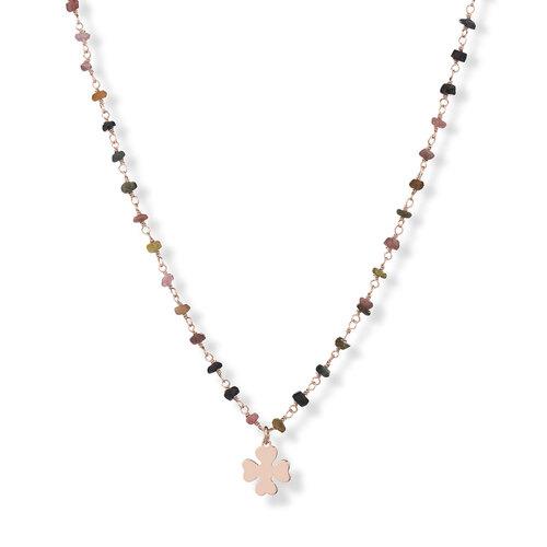 Gemstone Necklace 70 cm