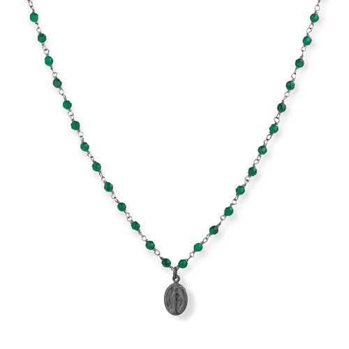 Gemstone Necklace 90 cm