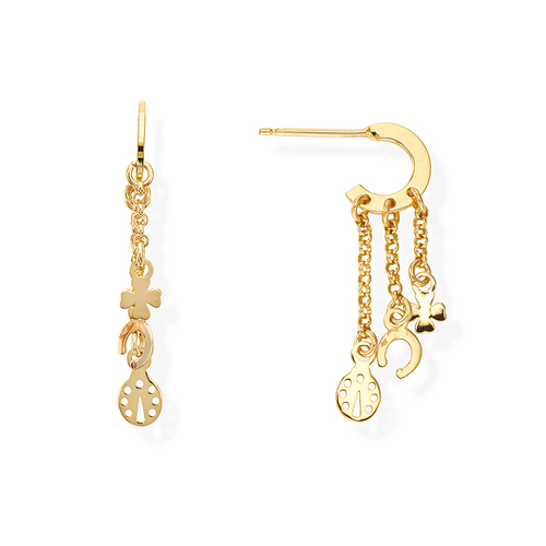 Golden Charms Earrings