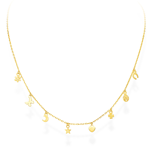 Golden Charms Necklace