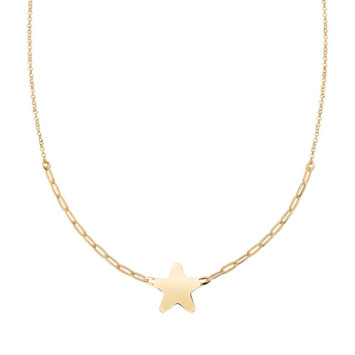 Golden Heart Chain Necklace