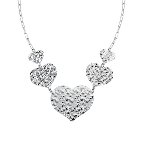 Hammered Hearts Necklace
